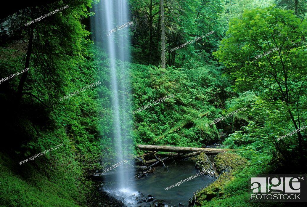 Stock Photo: Shellburg Falls, Santiam State Forest, Oregon.