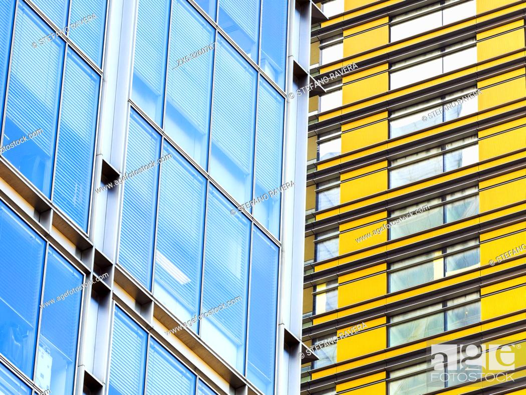 Stock Photo: Close up of modern buildings in the City of London - England.