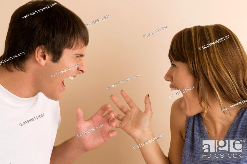 Stock Photo: Close-up of a young couple laughing.