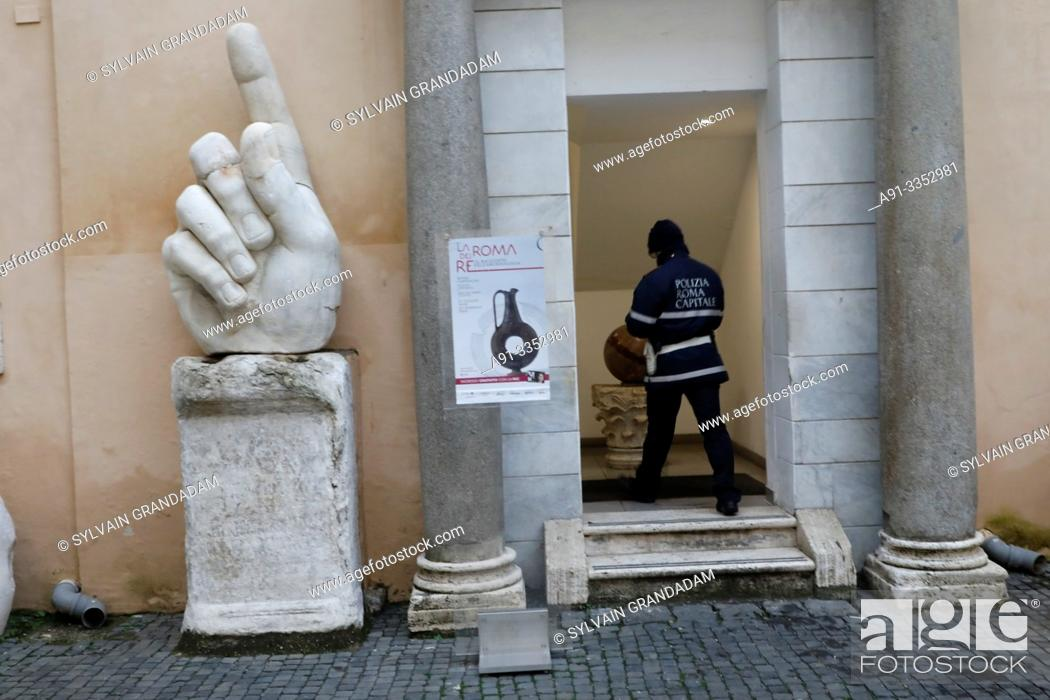 Stock Photo: Italy, city of Roma , capitol museum.