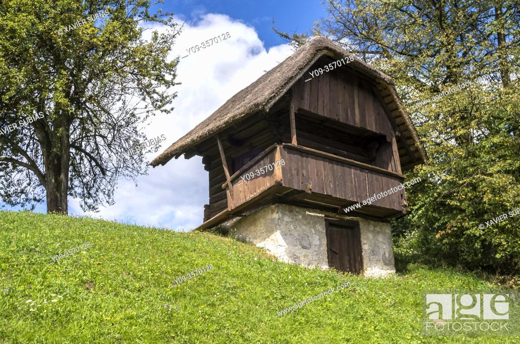 Stock Photo: Zaprice open air museum, Kamnik, Slovenia.