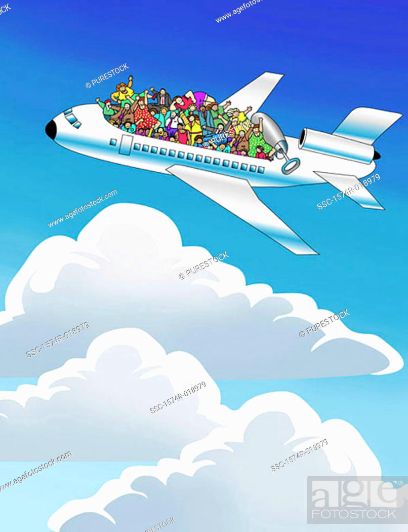Stock Photo: Friendly Skies 2003 Linda Braucht (20th C. American) Computer graphics.