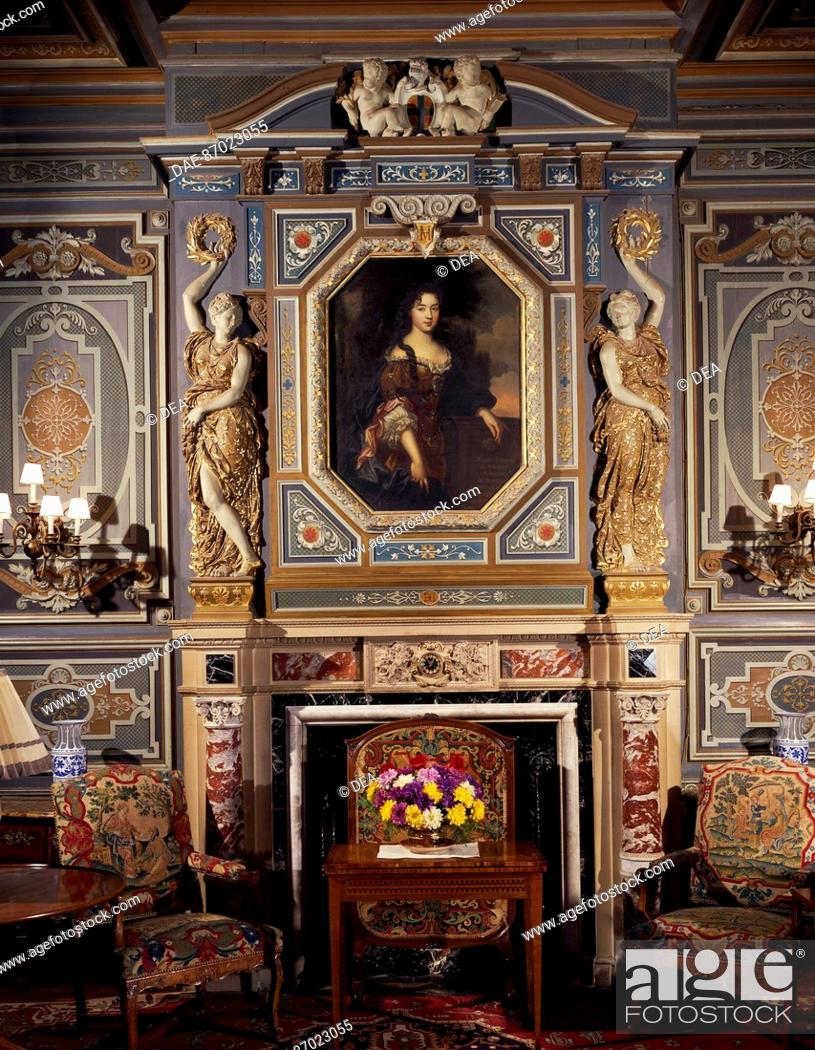 Stock Photo: The great room of Chateau de Cheverny, Loire Valley (UNESCO World Heritage List, 2000). France, 17th century.
