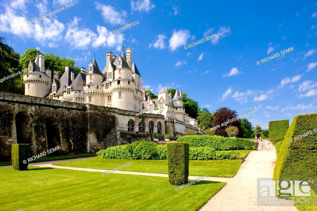 Stock Photo: Ussé Castle, Indre-et-Loire, Centre, France.