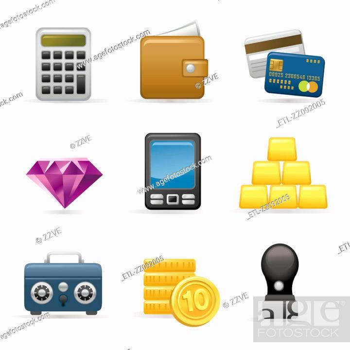 Stock Photo: Finance Icon set.