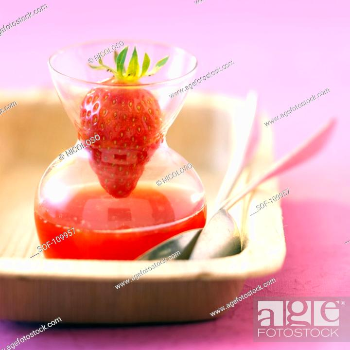 Stock Photo: Strawberry soup.