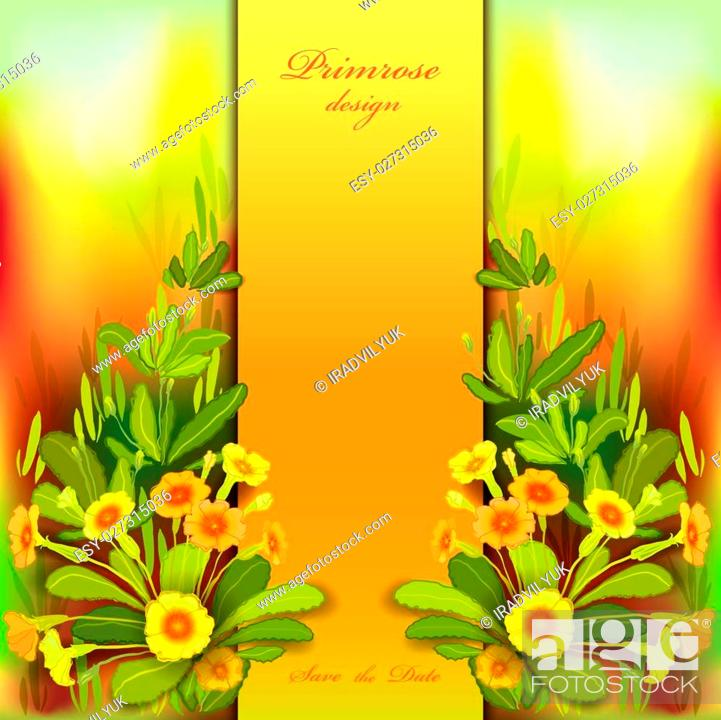 spring summer flowers floral background vertical border frame with yellow primroses and green stock vector vector and low budget royalty free image pic esy 027315036 agefotostock https www agefotostock com age en stock images low budget royalty free esy 027315036