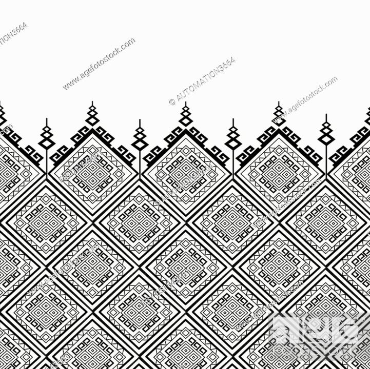 Geometric Ethnic Pattern Design For Background Carpet Wallpaper Clothing Sarong Wrapping Batik Stock Vector Vector And Low Budget Royalty Free Image Pic Esy 051643601 Agefotostock