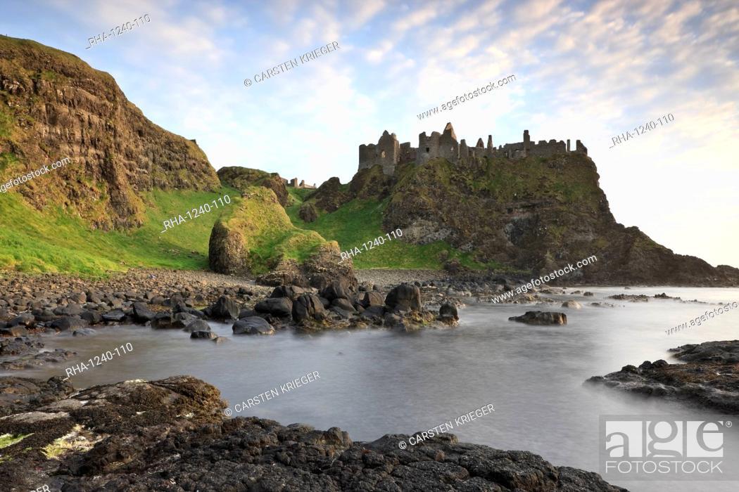 Stock Photo: Dunluce Castle, County Antrim, Ulster, Northern Ireland, United Kingdom, Europe.