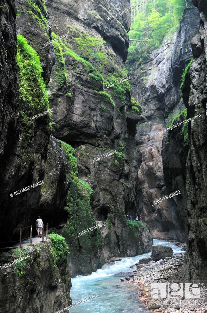 Stock Photo: Partnach canyon near of Garmisch, Bavaria, Germany.