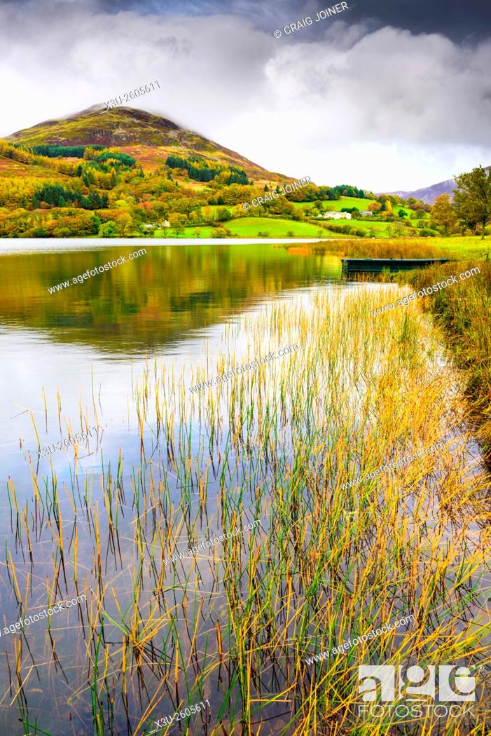 Stock Photo: Loweswater and Low Fell in the Lake District National Park, Cumbria, England.