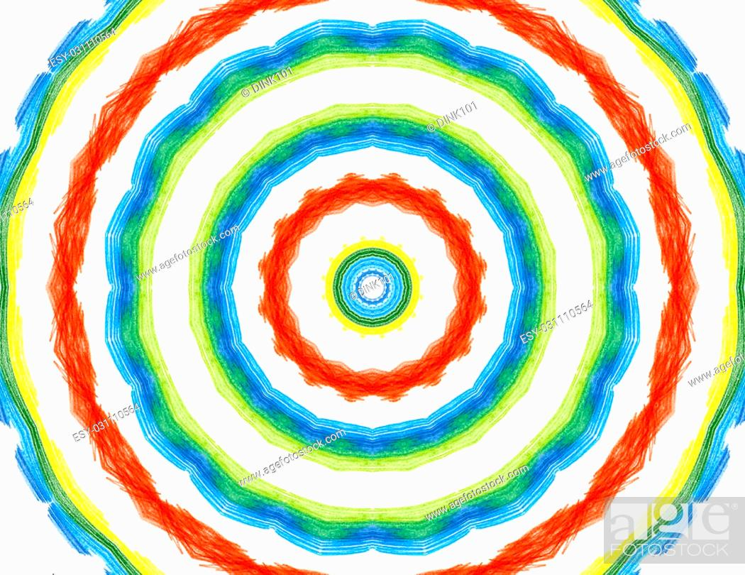 Stock Photo: Bright background with abstract radial color pattern.
