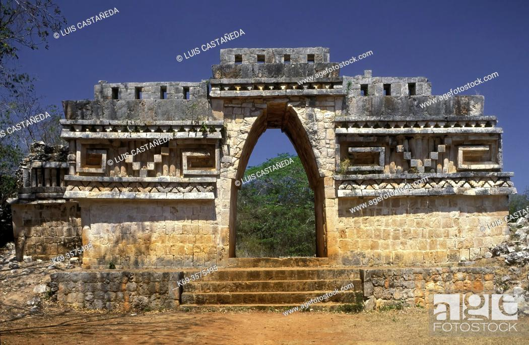 Stock Photo: Mayan Arch. . Labna (Yucatán). Mexico.