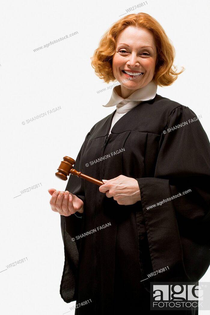 Stock Photo: Portrait of a female judge.