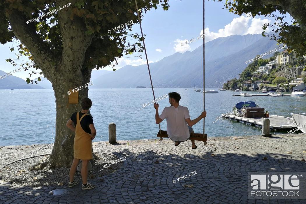 Stock Photo: Switzerland, Canton Ticino, Ascona.