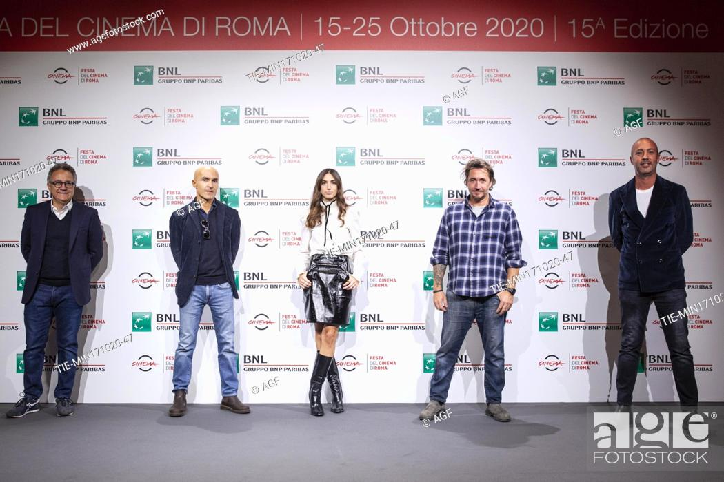 "Stock Photo: Paolo del Brocco, Lorenzo Mieli, Virginia Valsecchi, Alex Infascelli, Nicola Maccanico attends the photocall of the movie """"Mi chiamo Francesco Totti"""" during."
