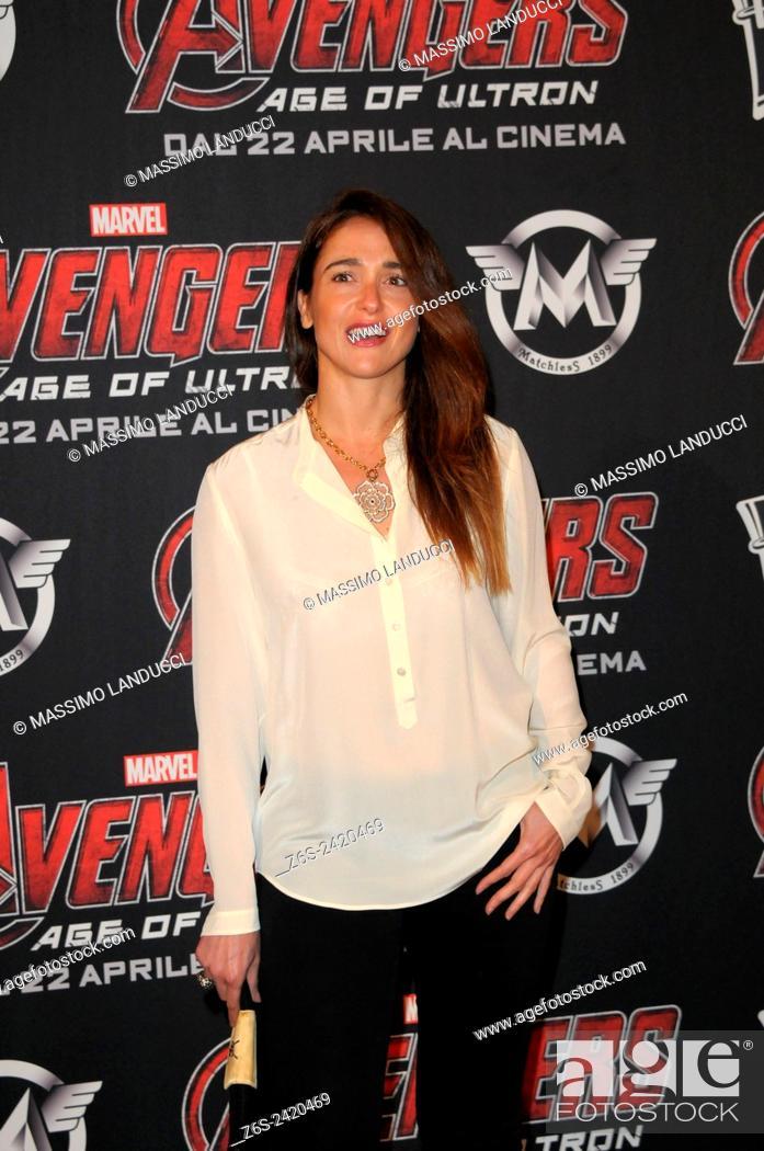 Imagen: Eleonora Sergio ; Sergio; actress ; celebrities; 2015;rome; italy;event; red carpet ; avengers, age of ultron.