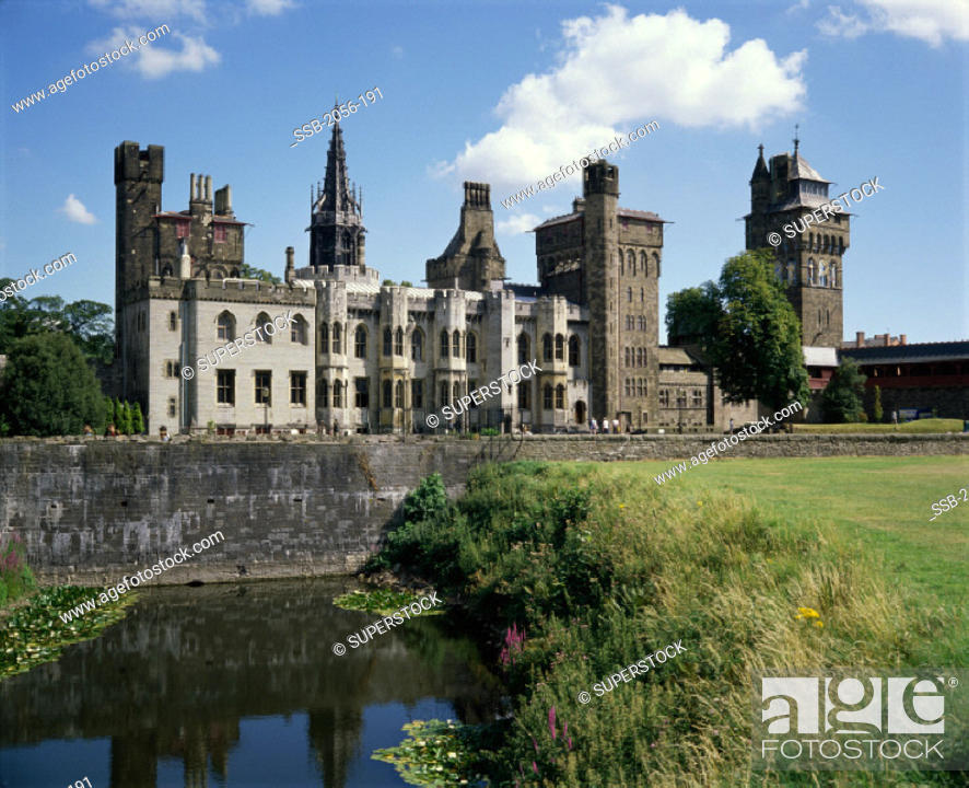 Stock Photo: Cardiff Castle, Cardiff, Wales.