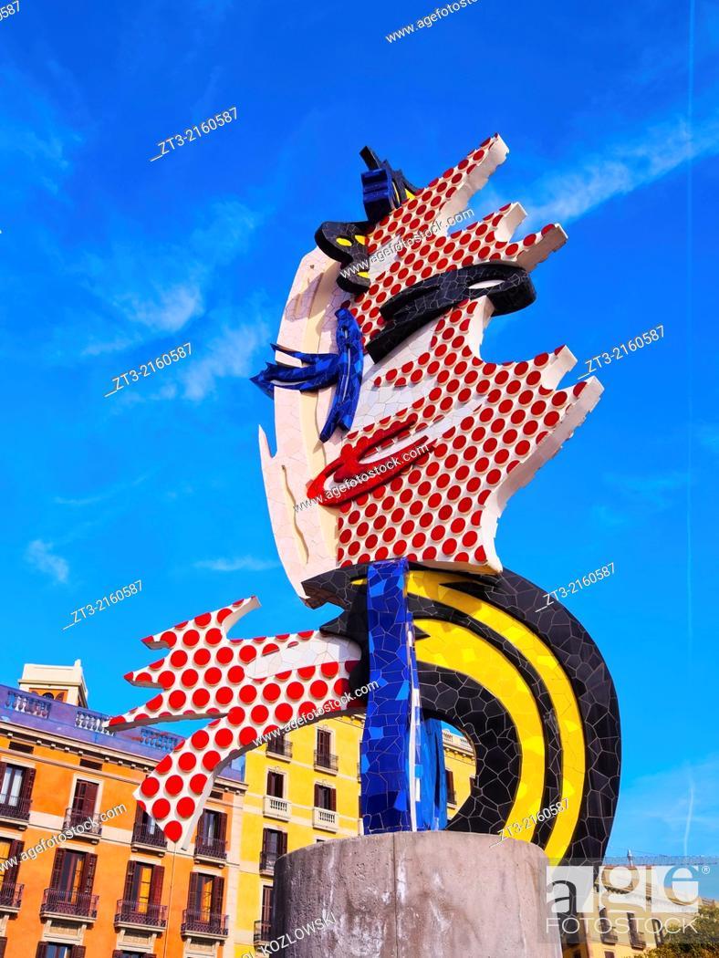 52264974263 Stock Photo - El Cap de Barcelona - a surrealist sculpture created by  American Pop artist Roy Lichtenstein for the 1992 Summer Olympics in  Barcelona
