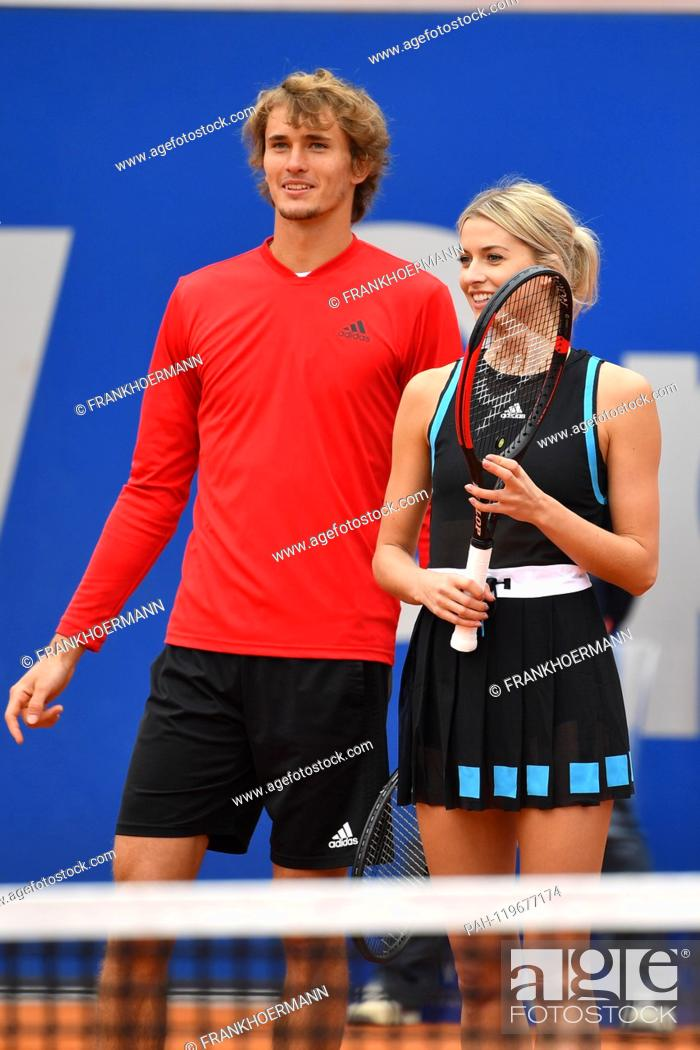 Alxander Zverev And Model Lena Gercke Press Appointment