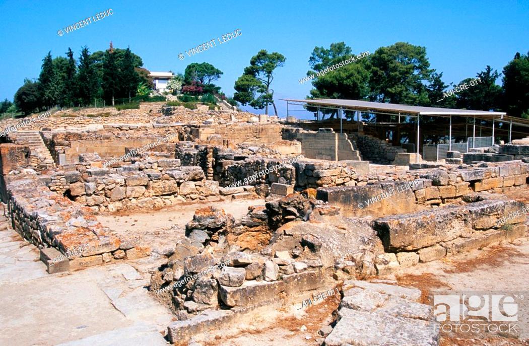 Stock Photo: Greece - Crete - Festos - Minoens Site.