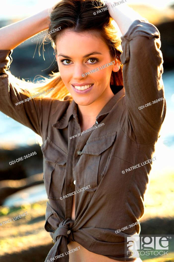 Stock Photo: Woman spring portrait.