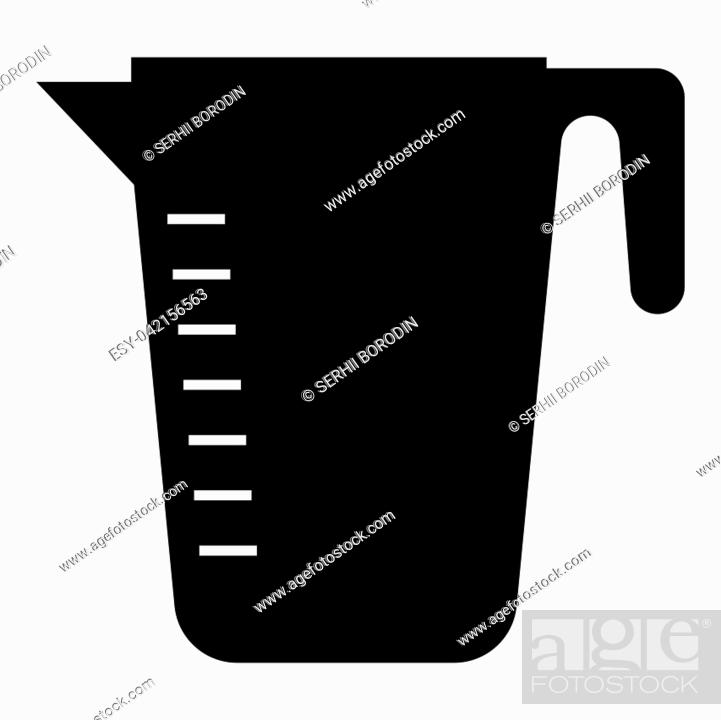 Vector: Measuring capacity cup icon black color vector illustration flat style simple image.
