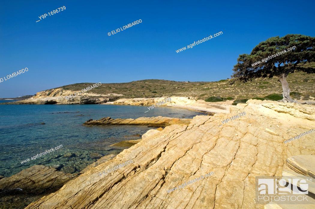 Stock Photo: Monodendri beach, Lipsi Island, Dodecanese, Greece.