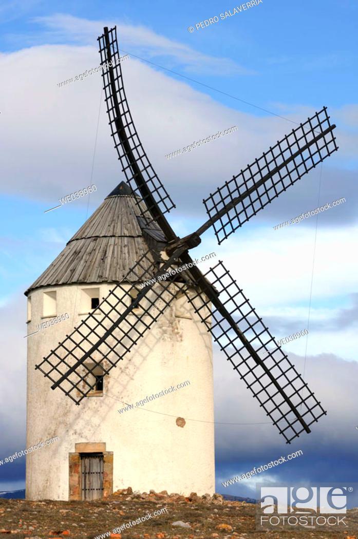 Stock Photo: Windmill. Malanquilla. Zaragoza province. Aragón. Spain.
