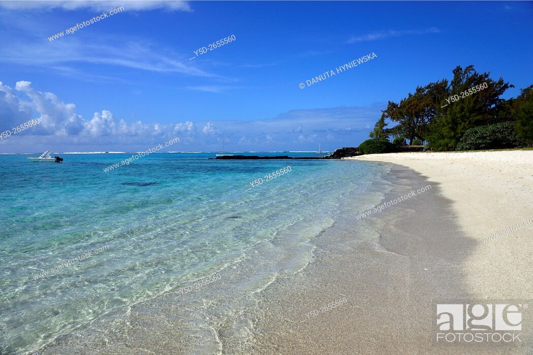 Stock Photo: Africa, Mauritius, Grand Port District , Blue Bay coast.