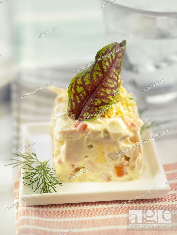 Stock Photo: platillo de ensaladilla rusa / Russian salad.