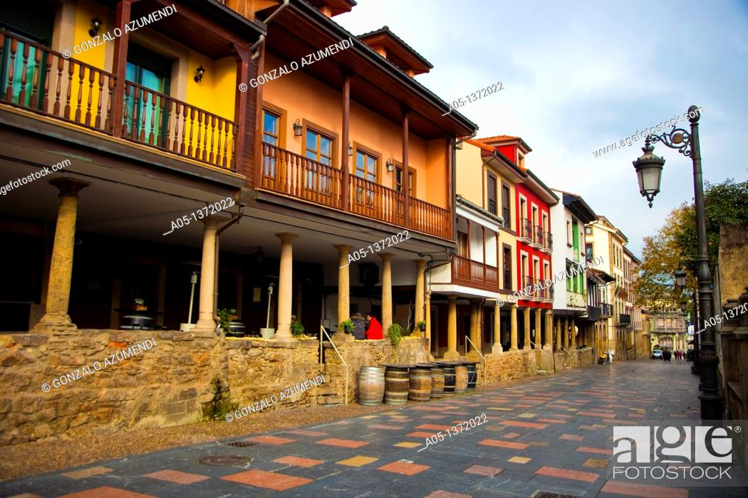 Stock Photo: Galiana Street  Aviles  Asturias  Spain.