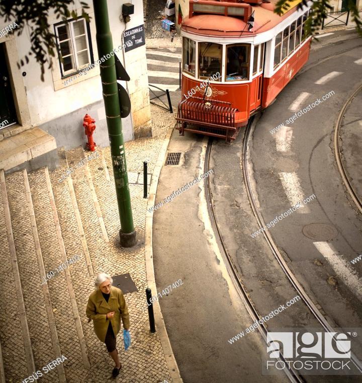 Stock Photo: Alfama, Lisboa, Portugal.