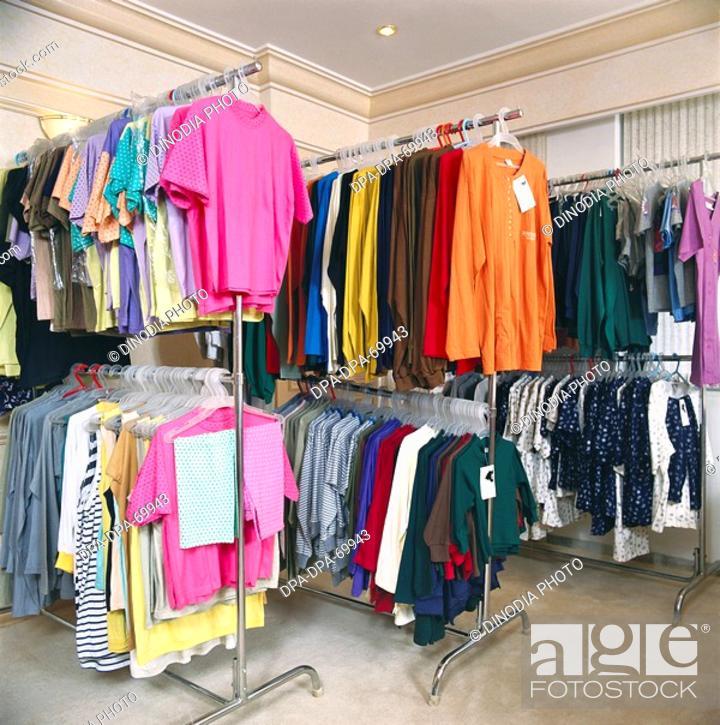 Stock Photo: Readymade garment arrange in shop.