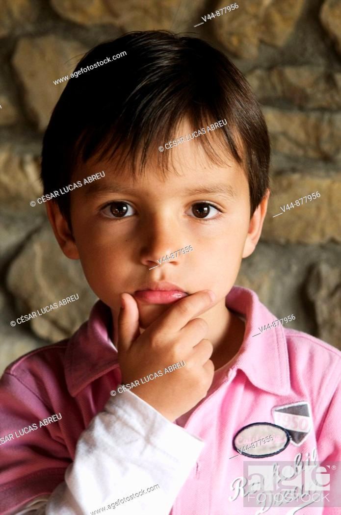 Stock Photo: 4 year old boy.