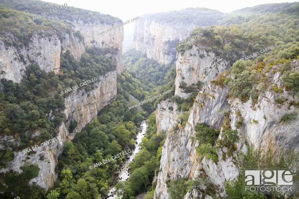 Stock Photo: Foz of Arbayun, nature reserve in Navarre (Spain).