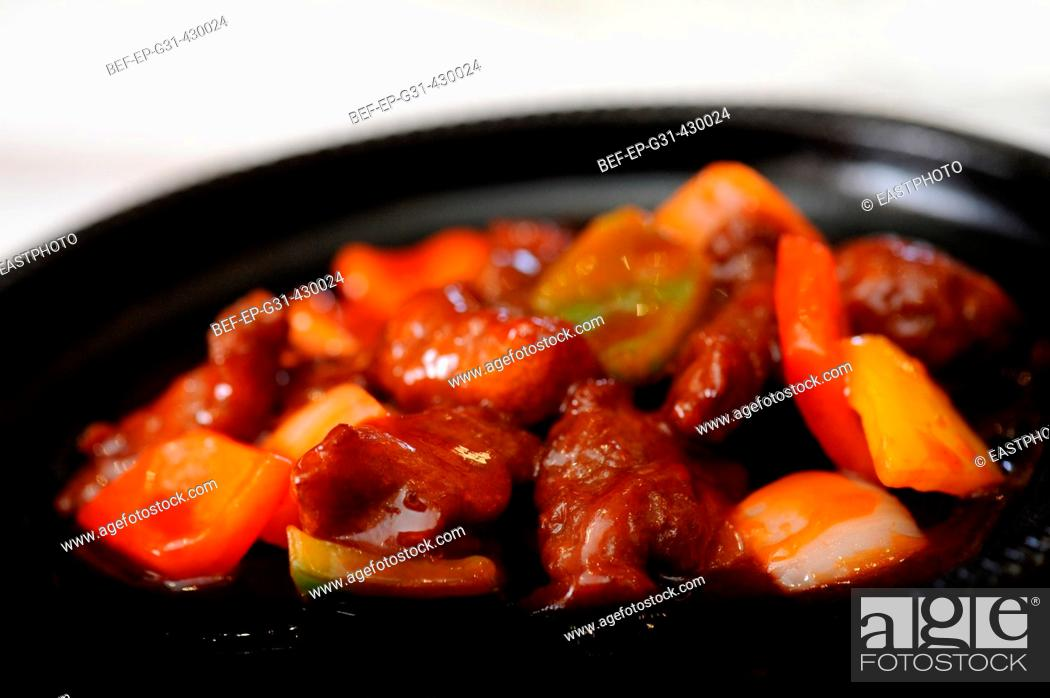 Stock Photo: Sweet and Sour Spare Ribs.
