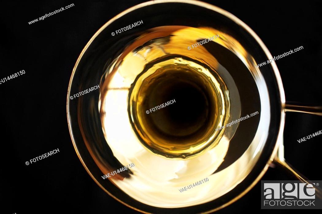 Stock Photo: Close-up of trombone.