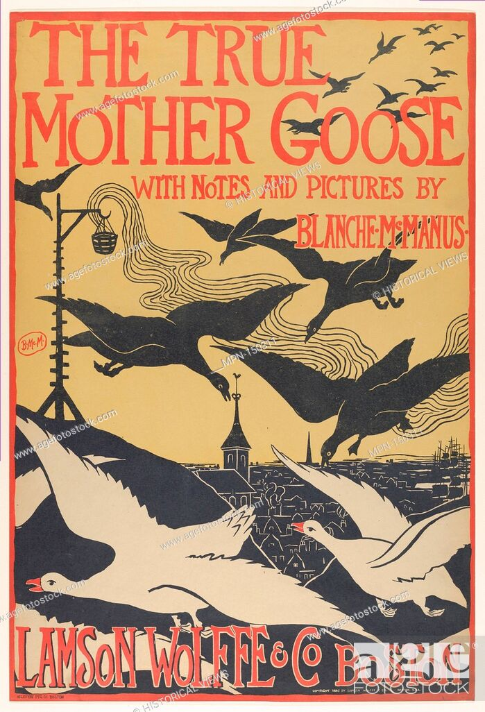 Imagen: The True Mother Goose. Artist: Blanche McManus Mansfield (American, East Feliciana, Louisiana 1870-1929); Publisher: Lamson Wolffe & Co; Printer: Heliotype.