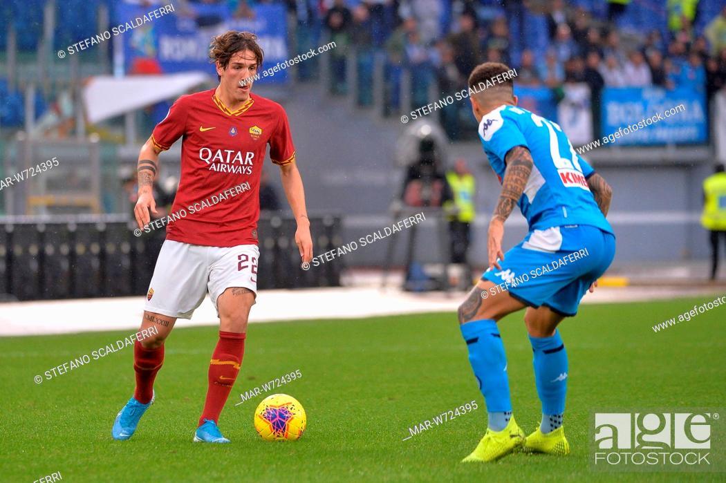 Campionato Italiano Di Calcio Serie A Tim 2019 2020 As Roma Vs Ssc Napoli Stadio Olimpico Roma Stock Photo Picture And Rights Managed Image Pic Mar W724395 Agefotostock