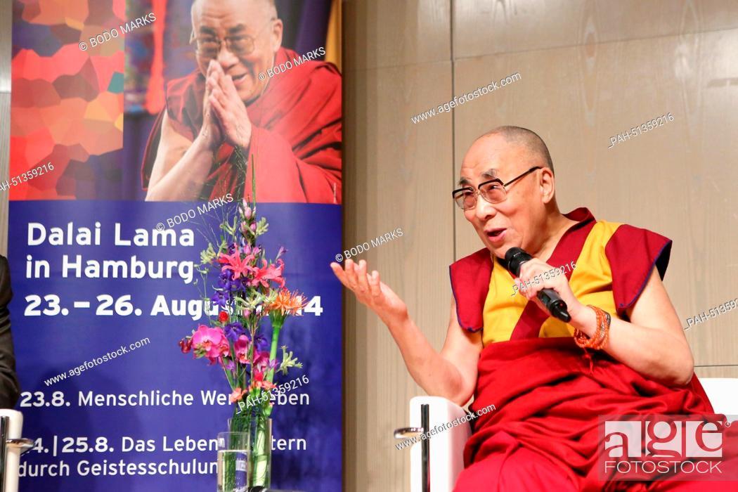 The Dalai Lama, spiritual leader of Tibet, speaks at the