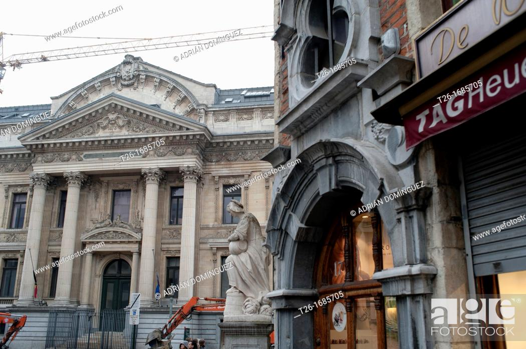 Stock Photo: Detail of old building in Brussels, Belgium.