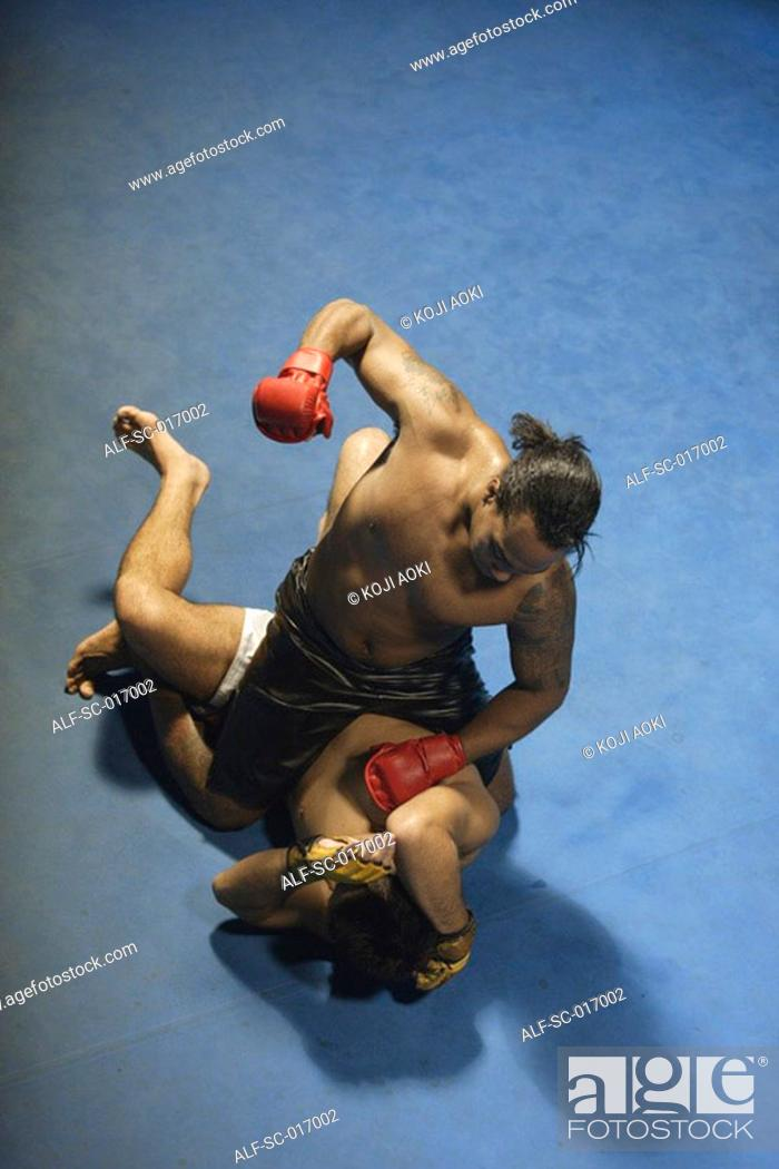 Stock Photo: Mixed Martial Arts Fighters.