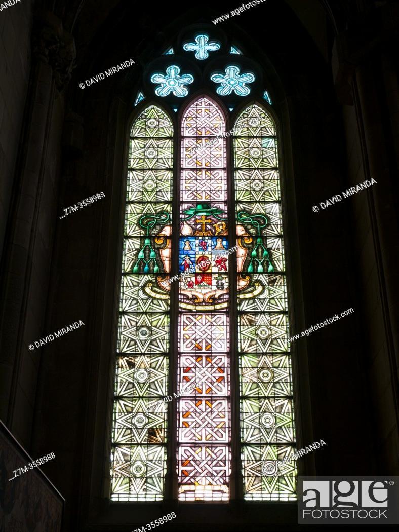 Stock Photo: Vidriera de la Catedral de María Inmaculada (Catedral Nueva). Vitoria. Ã. lava. País Vasco. España.