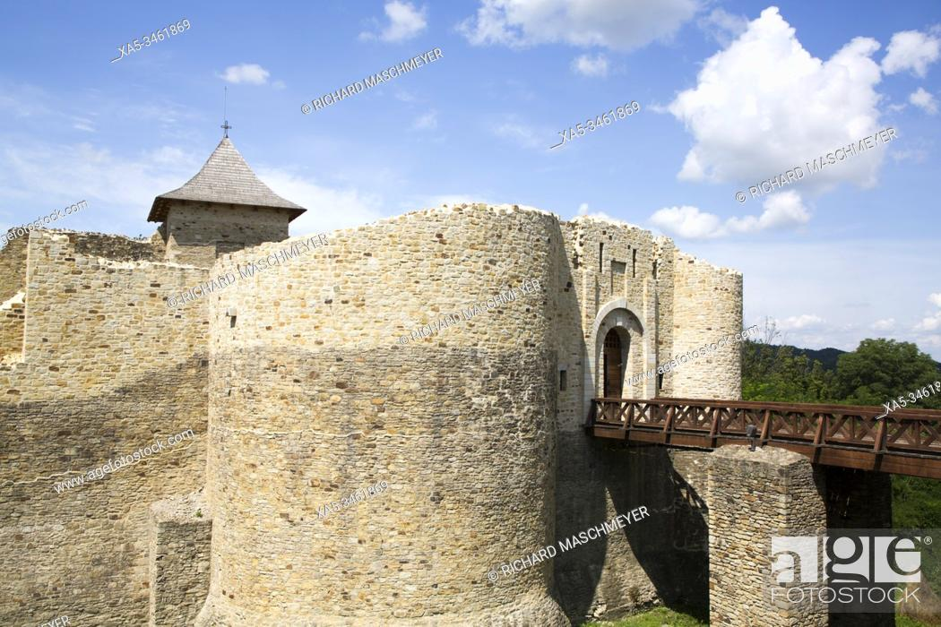 Stock Photo: Fortress of Suceava, 1375, Suceava, Suceava County, Romania.