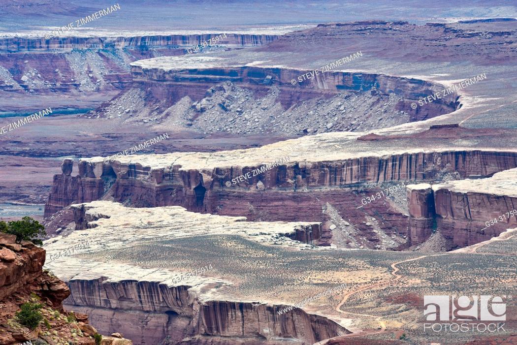 Stock Photo: Rim Formation. Canyonlands National Park, Utah, USA.