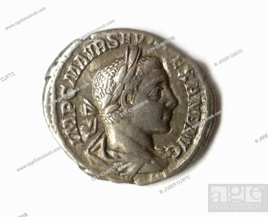 Photo de stock: antique roman coin.