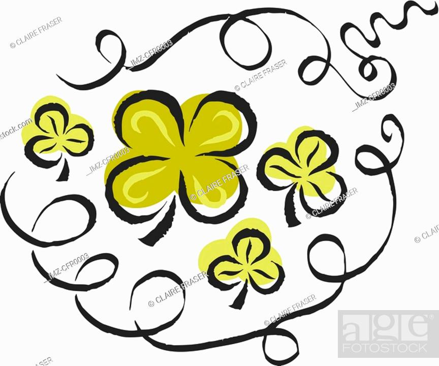 Stock Photo: An illustration of clovers.