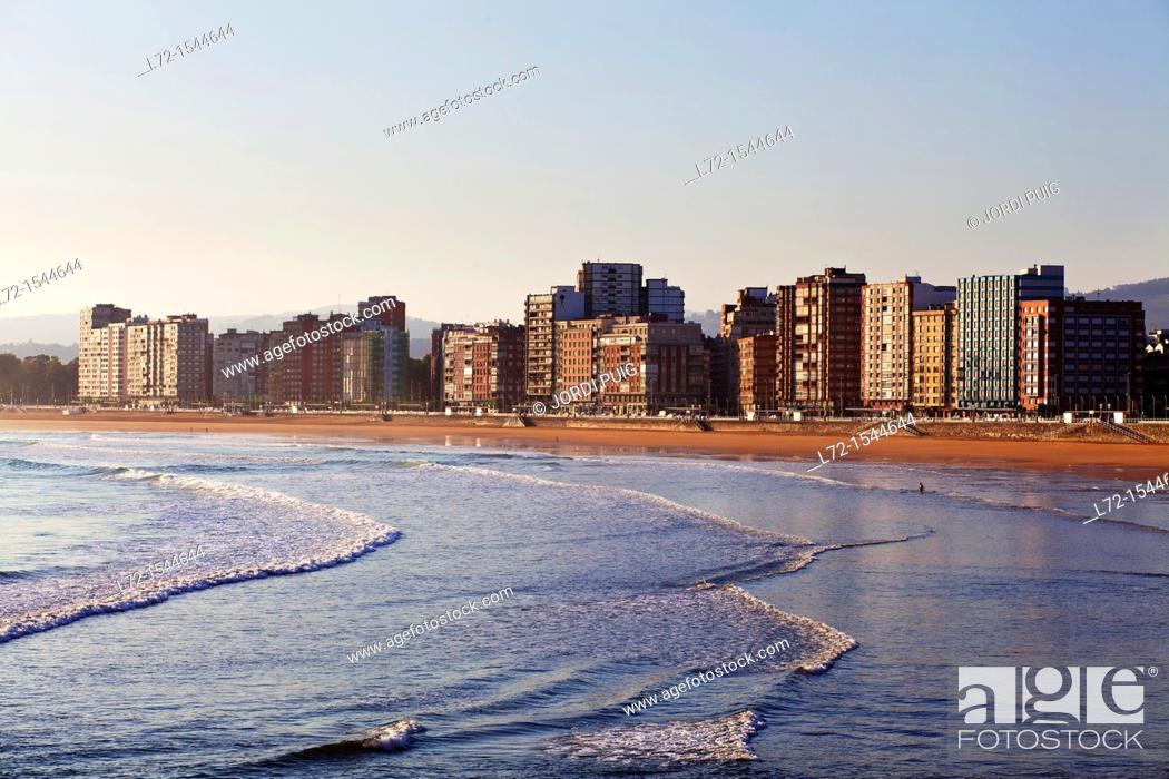 Stock Photo: Gijon, Asturias, Spain.