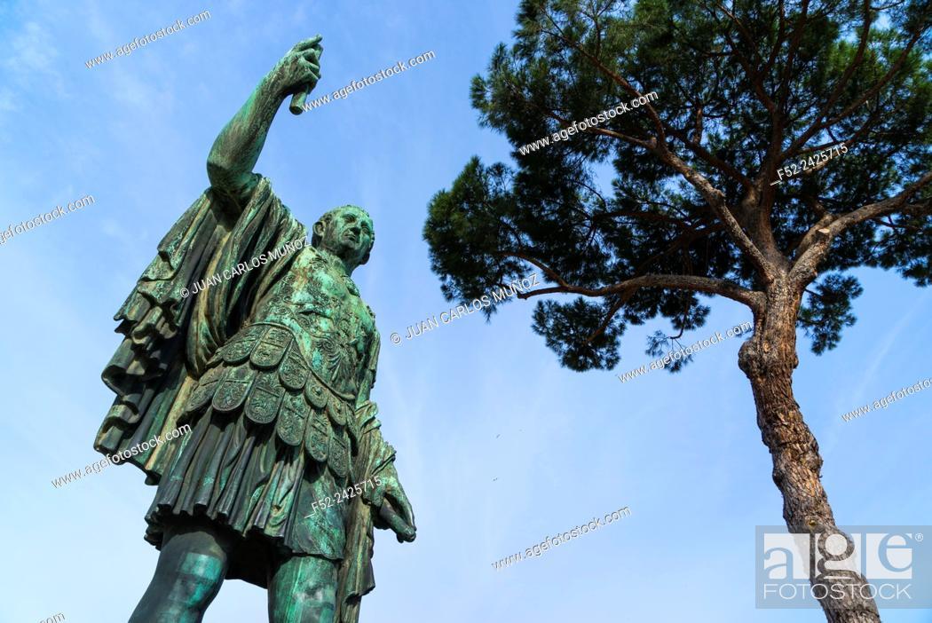 Stock Photo: Trajan, Trajan's Forum, Rome, Italy, Europe.